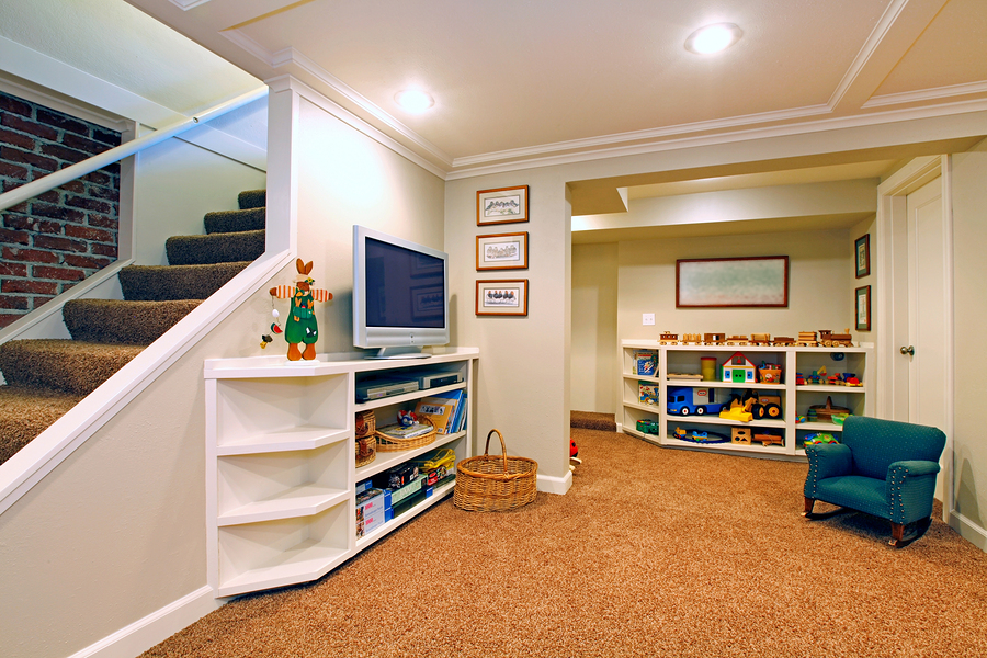 Basement converted into a toddler room