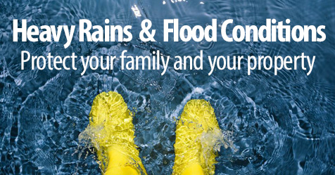 Protecting Your Family and Property From Heavy Rains and Flood Conditions