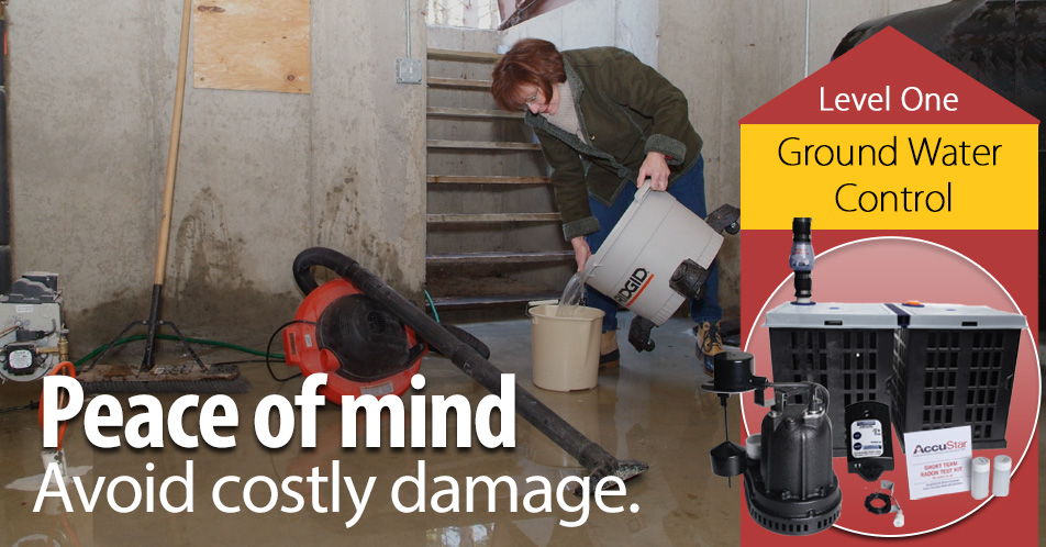A Sump Pump can give you peace of mind knowing that your valuable storage and property are protected against water damage.